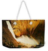 Lower Falls Yellowstone River Weekender Tote Bag