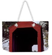 Loy's Station Covered Bridge Weekender Tote Bag