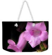 Luke 7 35 Pink Penstemon Flower Weekender Tote Bag