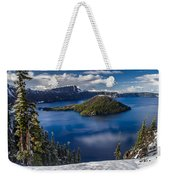 Luminous Crater Lake Weekender Tote Bag