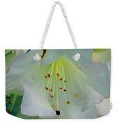 Luminous White Tiger Lily Weekender Tote Bag