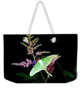 Luna Moth On Astilby Flower Weekender Tote Bag