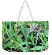 Lurking Spider In The Grass Weekender Tote Bag