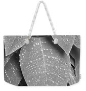 Lush Leaves And Water Drops 2 Bw Weekender Tote Bag