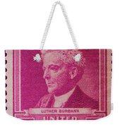 Luther Burbank Postage Stamp Weekender Tote Bag