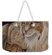 Lynx Mom And Baby Weekender Tote Bag