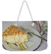 Macadamia Nut Cream Pie Slice Weekender Tote Bag
