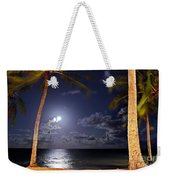Maceio - Brazil - Ponta Verde Beach Under The Moonlit Weekender Tote Bag