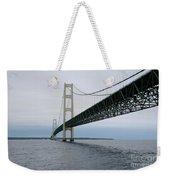 Mackinac Bridge From Water Weekender Tote Bag