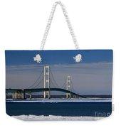 Mackinac Bridge In Winter 2 Weekender Tote Bag