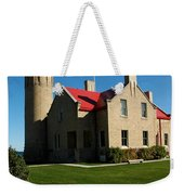 Mackinac Island Lighthouse Weekender Tote Bag