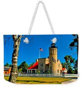 Mackinac Point Light Weekender Tote Bag
