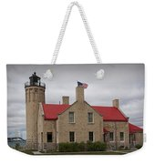 Mackinaw City Lighthouse Number 2446 Weekender Tote Bag
