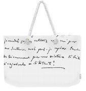 Madame De Stael Letter Weekender Tote Bag