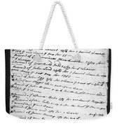 Madison: Account Book Weekender Tote Bag