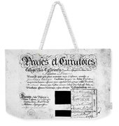 Madison: Diploma, 1772 Weekender Tote Bag