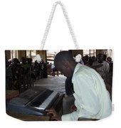 Madona Playing Piano In Nigerian Church Weekender Tote Bag