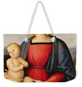 Madonna And Child Weekender Tote Bag by Pietro Perugino