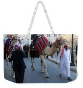 Magi Going To Manger Grotto Weekender Tote Bag