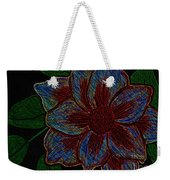 Magnolia Abstract Sketch Weekender Tote Bag
