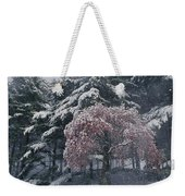 Magnolia Blossoms And Conifers Weekender Tote Bag
