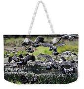 Magpie Geese In Flight Mcminn Lagoon Weekender Tote Bag