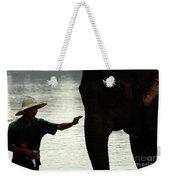 Mahut With Elephant Weekender Tote Bag