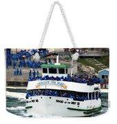 Maid Of The Mist Boat At Niagara Falls Weekender Tote Bag