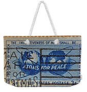 Mail Early For Christmas And Peace Weekender Tote Bag