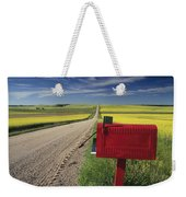 Mailbox On Country Road, Tiger Hills Weekender Tote Bag
