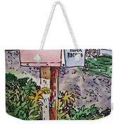 Mailbox Sketchbook Project Down My Street Weekender Tote Bag by Irina Sztukowski