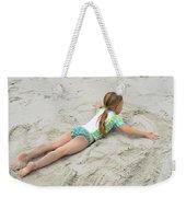 Making A Sand Angel Weekender Tote Bag