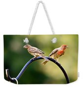 Male And Female House Finch Weekender Tote Bag