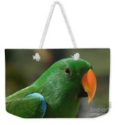 Male Eclectus Parrot Weekender Tote Bag