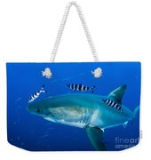 Male Great White Shark And Pilot Fish Weekender Tote Bag