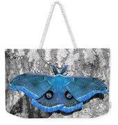 Male Moth Light Blue Weekender Tote Bag