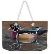 Male Wood Duck Weekender Tote Bag