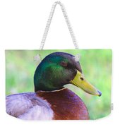 Mallard Drake In Shade Weekender Tote Bag
