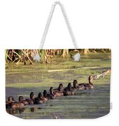 Mallard Ducks In A Row Weekender Tote Bag