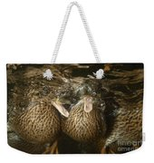 Mallard Ducks Underwater Weekender Tote Bag