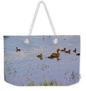 Mama Duck And The Kiddies Weekender Tote Bag
