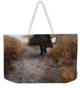Man In Cape And Top Hat By The Sea Weekender Tote Bag