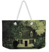 Man In Front Of Cottage Weekender Tote Bag
