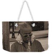 Man Playing His Saxophone Weekender Tote Bag