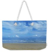 Man Riding A Pony On The Beach Weekender Tote Bag