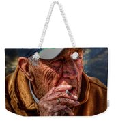 Man Smoking Weekender Tote Bag