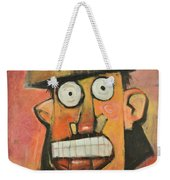 Man With Terracotta Hat And Green Shirt Weekender Tote Bag