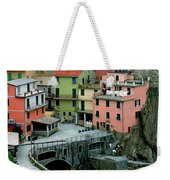 Manarola Houses On The Cinque Terre II Weekender Tote Bag