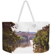 Manayunk Bridge Along The Schuylkill River Weekender Tote Bag