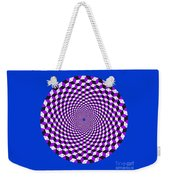 Mandala Figure Number 5 With Rhombus Steps In Black And White And Purple Weekender Tote Bag